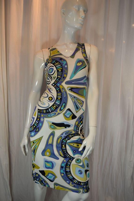 Vintage 1990 Emilio Pucci Firenze Shift Dress