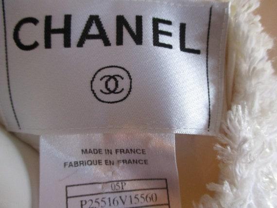 Chanel Jacket Ivory Deconstructed Bridal 1990's L… - image 6