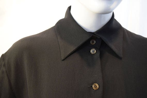Fendi Shirt Dress 1990's Black Nerd Couture Polo … - image 3