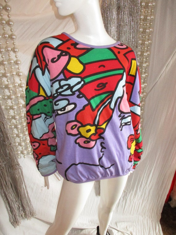 1990 Peter Max Art Sweater