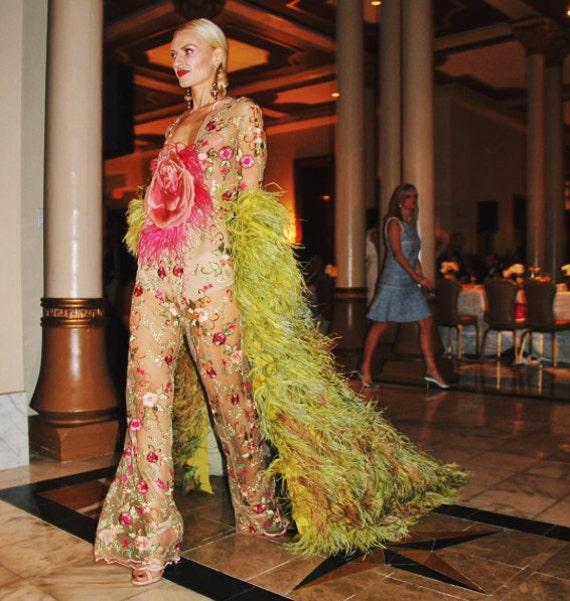 Boa Coat Michael Ong Paris Gaultier Green Lush Lif