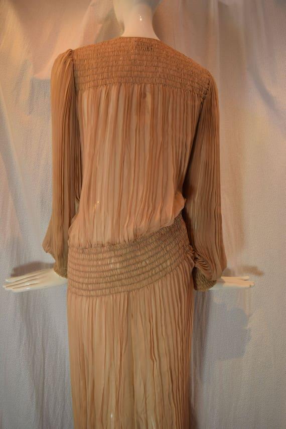 1970's Scott Barrie Silk Goddess Fortuny Dress Bo… - image 6