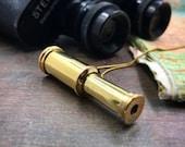 Binoculars, pendant, telescope necklace, spyglass, vintage charm