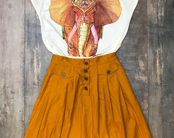 Midi skirt, 100% cotton, single size