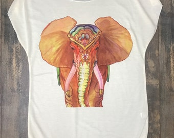 Elephant T-shirt, top elephant tank