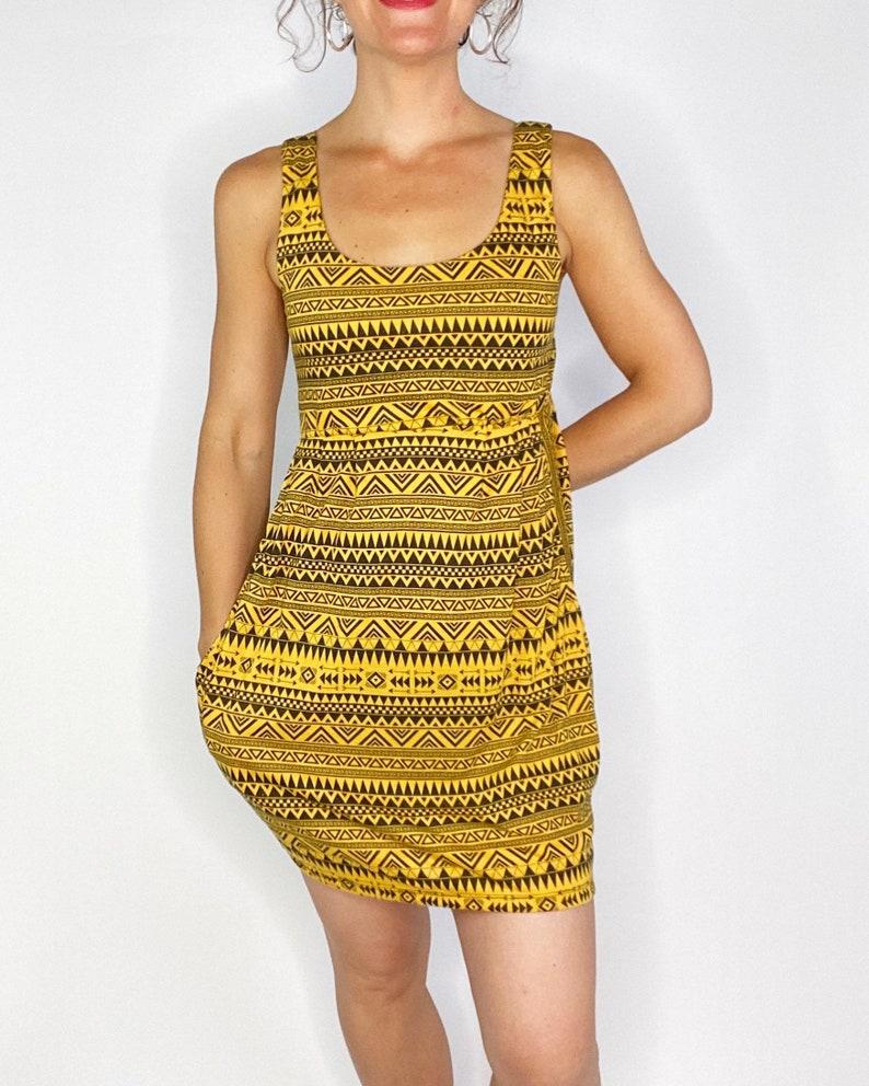 dress with tribal print pockets,one size