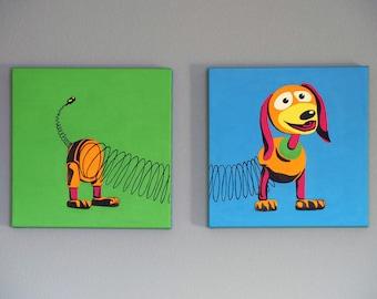 Slinky Dog, Toy Story - Acrylic Pop Art