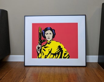 Pop Art Print | Princess Leia (Carrie Fisher), Star Wars
