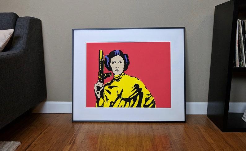 Pop Art Print  Princess Leia Carrie Fisher Star Wars image 0