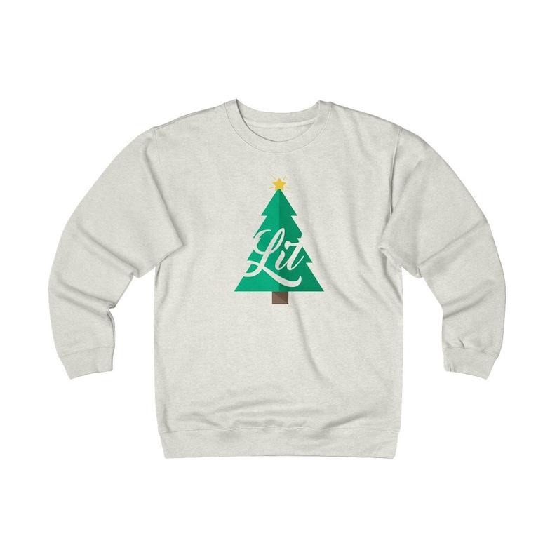 Lit Christmas Fleece Crew image 0
