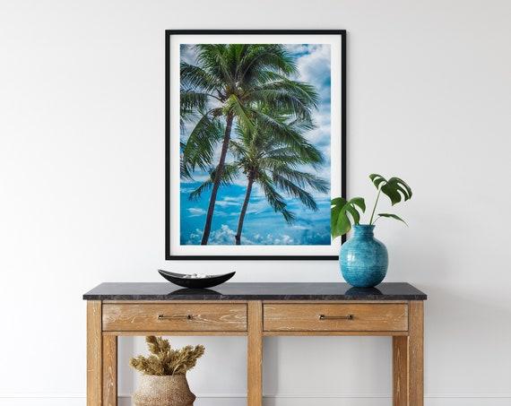 Palm Tree Photo Print, Malaysia Photography, Tropical Decor