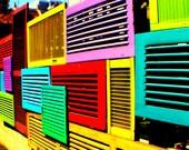 Coloured Doors | Hindley Street | Adelaide | South Australia | Australia | Print | Mounted