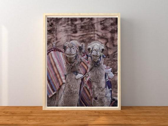 Camel Photo Print, Nursery Decor, Boho Print