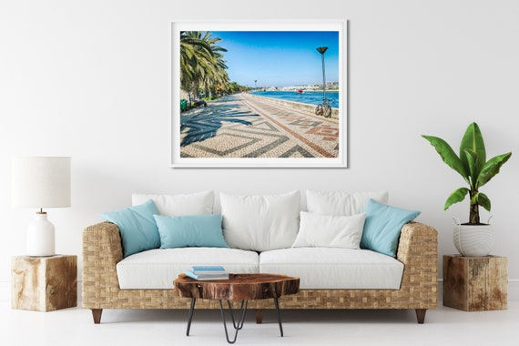 Riverside Promenade Photo Print, Lagos, Portugal, Summer Wall Art