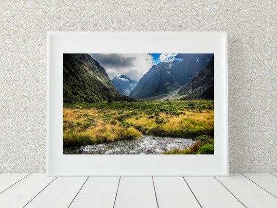 Mountain Landscape Print, New Zealand Photography, Nature Decor