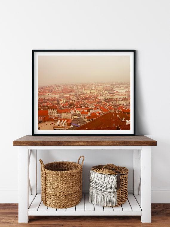 Red Rooftops Photo Print, Lisbon, Portugal, City Art