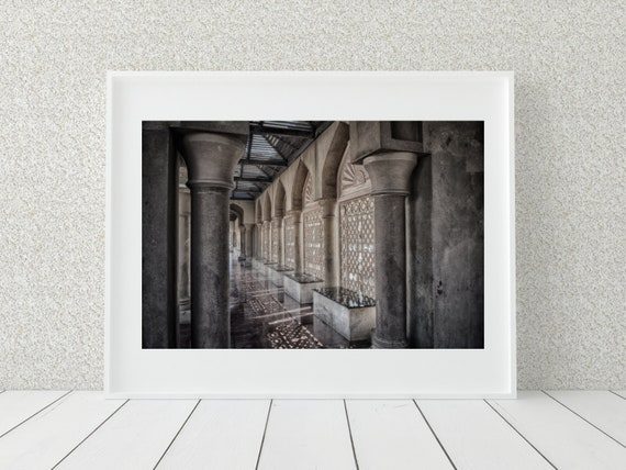 Marble Walkway Photo Print, Architecture Photography , Middle Eastern Decor