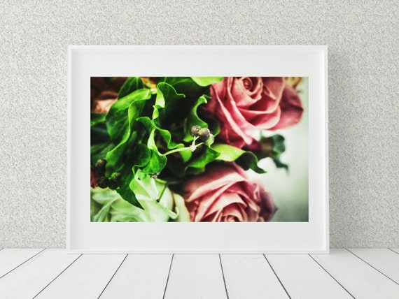 Romantic Floral Photo Print, Rose Art Print, Botanical Decor