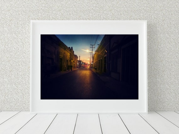 City Street Photo Print, Mexico Photography, Urban Photography