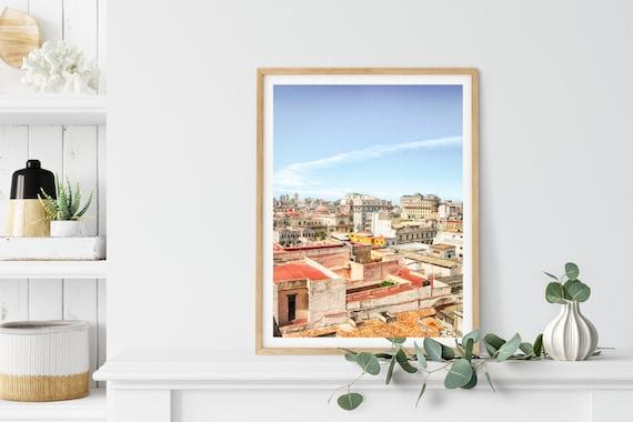 Rooftops Photo Print, Havana, Cuba, City Art