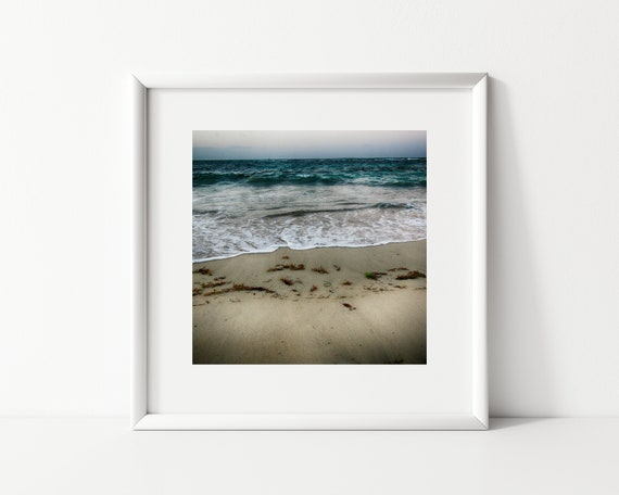Dark Blue Ocean Photography Print, Square Print, Coastal Decor