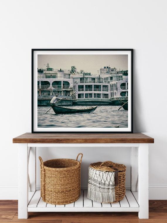 Buriganga River Photo Print, Dhaka, Bangladesh, Boat Decor