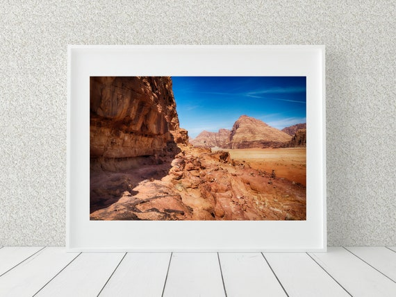Wadi Rum Photo Print, Desert Landscape Photography, Middle Eastern Decor