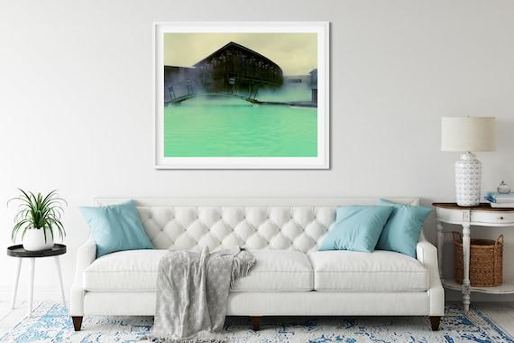 Blue Lagoon Photo Print, Reykjavik, Iceland, Nordic Decor