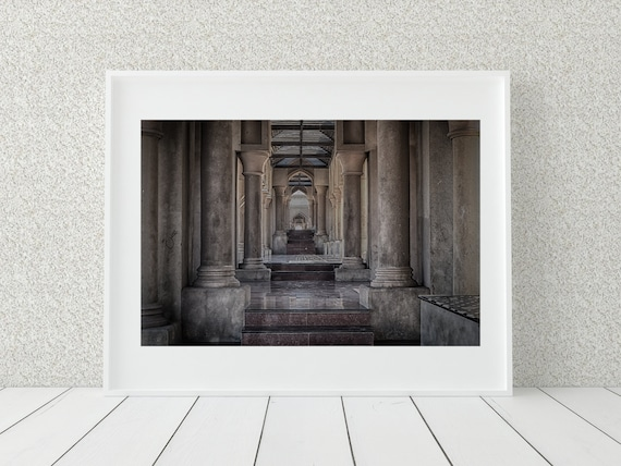 Marble Walkway Photo Print, Oman Art, Middle Eastern Decor
