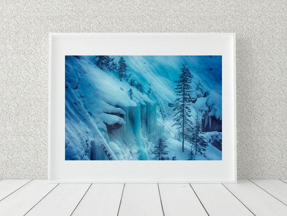 Snowy Landscape Print, Canada Photography, Winter Decor