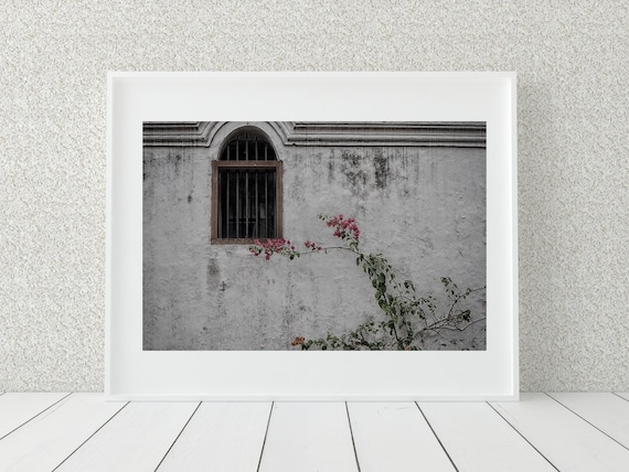Arched Window Photo Print, Malaysian Art, Rustic Decor