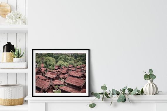Asian Pagodas Photo Print, Mandalay Myanmar, South East Asia, Chinoiserie Decor