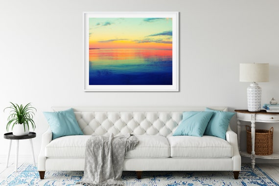 Abstract Sunset Photo Print, Australian Photography, Colorful Wall Art