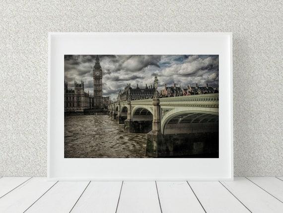 London Bridge Photo Print, UK Photography, English Decor