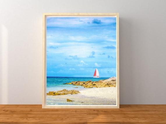 Sailboat Photo Print, Australian Photography, Nursery Decor