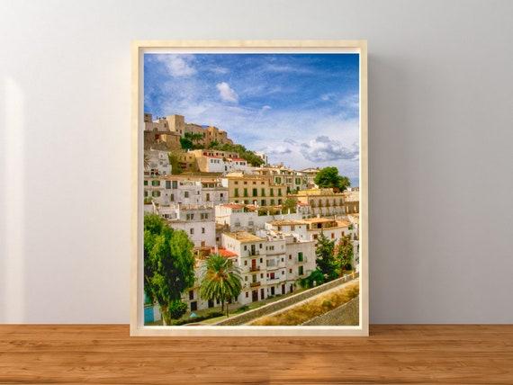 Ibiza Town, Spain Decor, Europe Wall Art