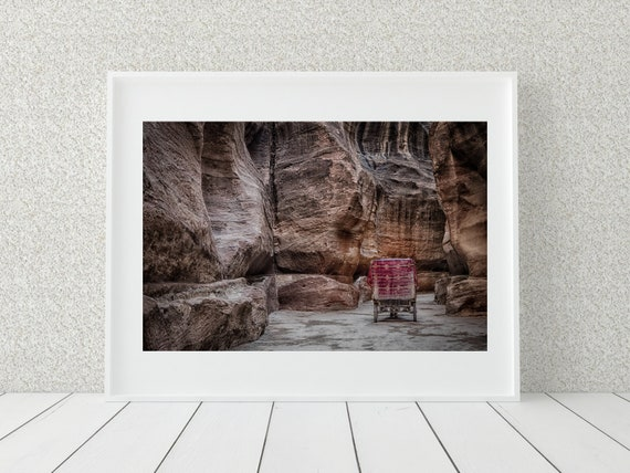 Bedouin Cart Photo Print, Petra Print, Middle Eastern Decor