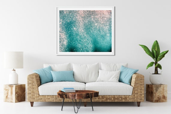 Underwater Bubbles Photo Print, Kaanapali Maui, Hawaii, Abstract Water Print