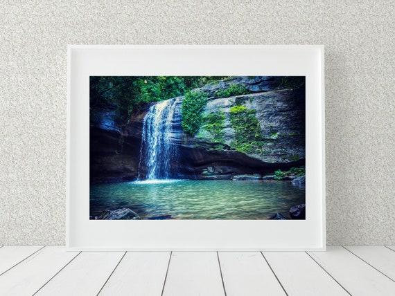 Waterfall Photography Print, Australian Prints, Nature Wall Art