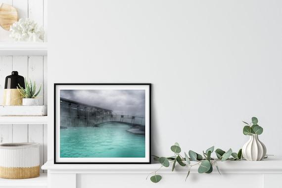 Blue Lagoon Photo Print, Grindavik, Iceland, Nordic Decor