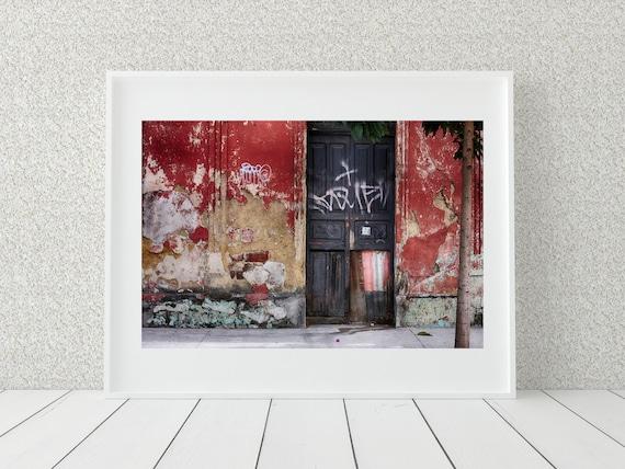 Abandoned Building Photography Print, Guatemala Print, Rustic Decor
