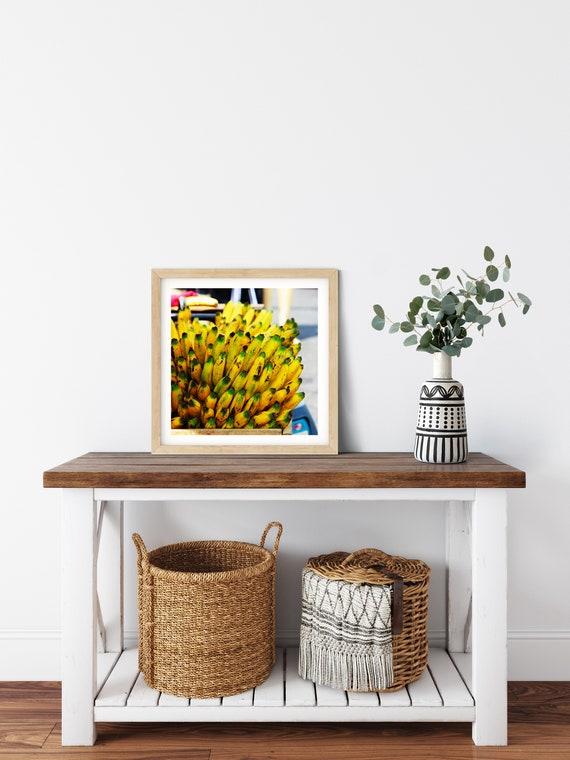 Banana Photo Print, El Salvador, Food Art, Kitchen Prints