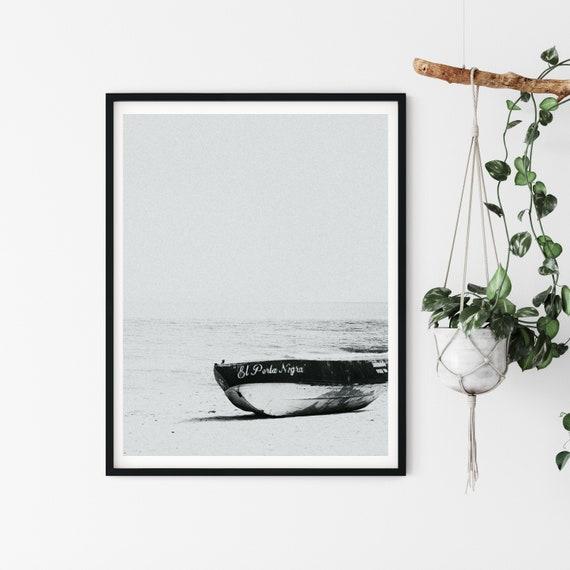 Minimalist Nautical Print, Mexico Photography, Black And White Decor