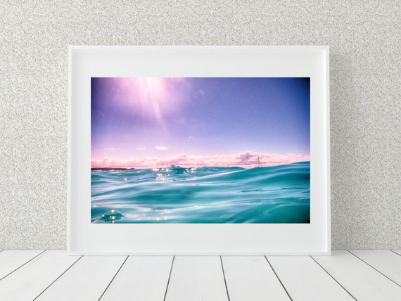 Aqua Ocean Photo Print, Australian Photography, Coastal Decor