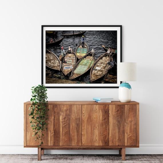 River Boats Photo Print, Bangladeshi Wall Art, Boat Decor