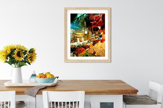 Spice Bazaar Photo Print, Istanbul, Turkey, Kitchen Wall Art