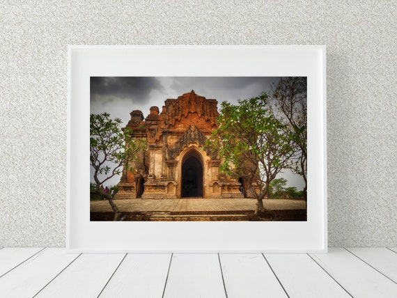 Buddhist Temple Photo Print, Myanmar Photography, Spiritual Gift