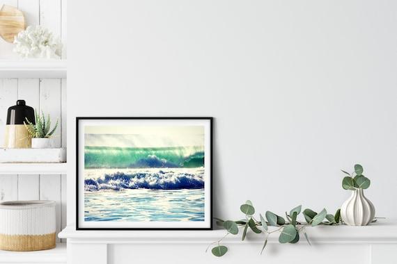 Ocean Wave Photo Print, Queensland Australia, Beach Decor, Ocean Art