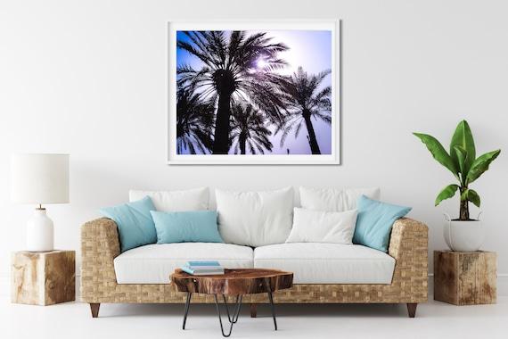 Palm Tree Photo Print, Doha, Qatar, Tropical Wall Art