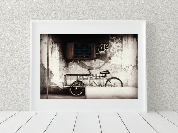 Rustic Bicycle Photo Print, Nicaragua Photography, Farmhouse Decor